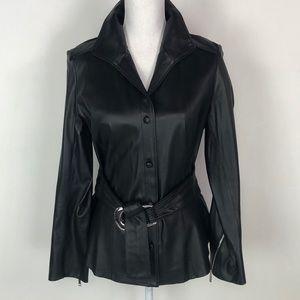 Lafayette 148 New York Black Leather Jacket
